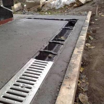Trench Drain Installation And Driveway Drainage Michigan