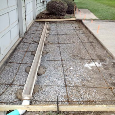 Trench Drain Installation And Driveway Drainage Minnesota